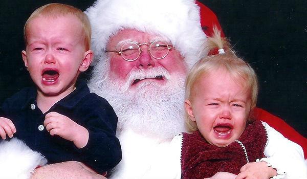 Papai Noel chorando