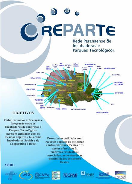 Banner de 3m. Rede Paranaense de Incubadoras e Parques Tecnológicos