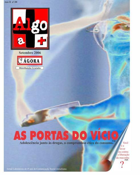 Capa do Jornal Algo a +