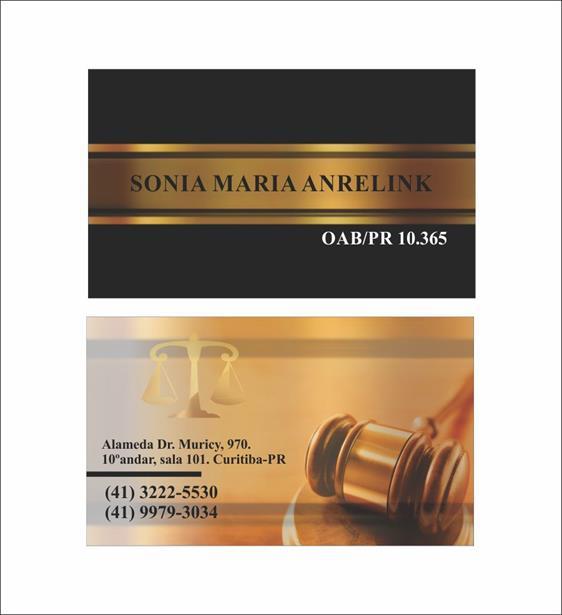 Cartões de Visita de Advocacia