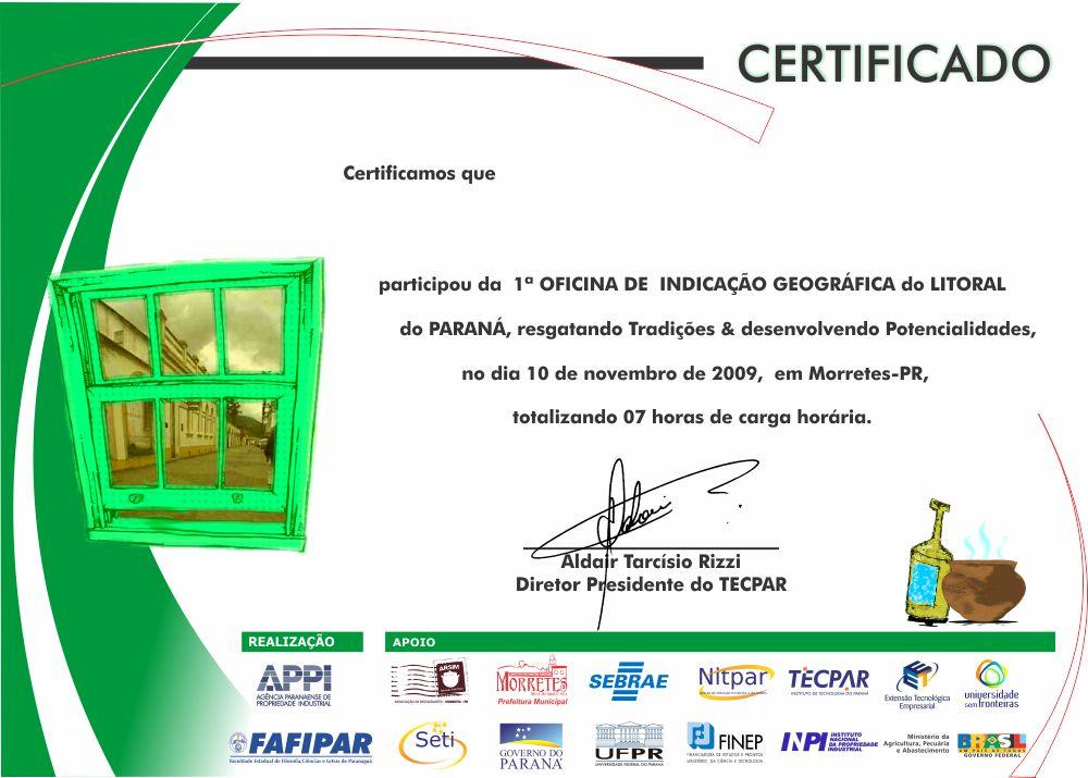 Certificado Oficial - APPI - FAFIPAR